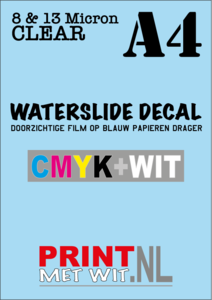 Waterslide decal in CMYK+WHITE - A4