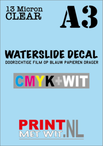 A3 Waterslide decal in CMYK+WIT - 13 Micron