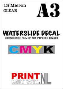 A3 Waterslide decal in CMYK - 13 Micron